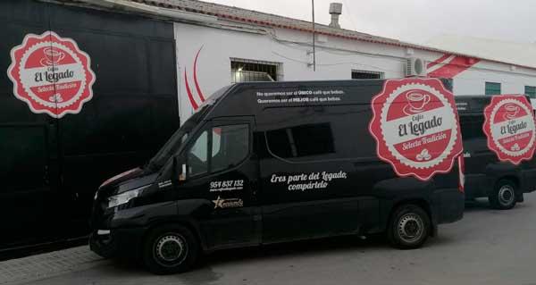 Profesionalhoreca, vehículos de Cafés El Legado