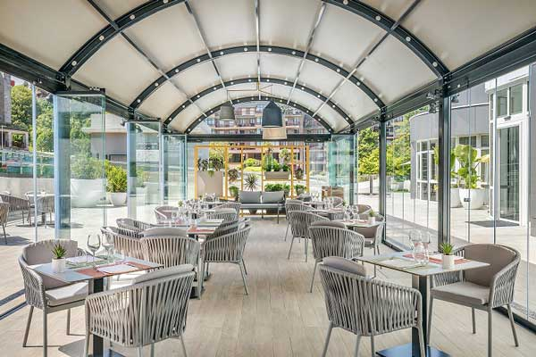 Profesionalhoreca, hotel Barceló Costa Vasca, terraza cubierta
