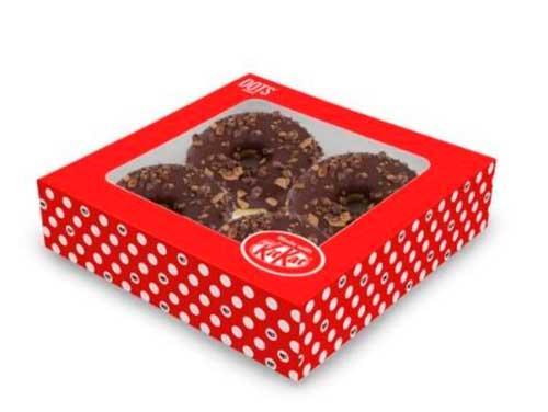 Profesionalhoreca, bollos Dots hechos con Kitkat, de Europastry. en caja