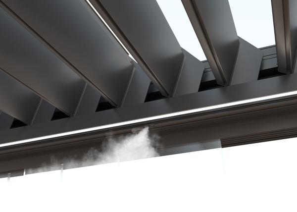 Profesionalhoreca, pérgola con sistema de nebulización integrado