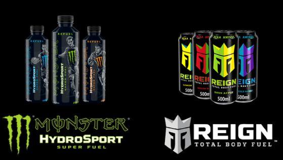 profesionalhoreca, babidas deportivas Monster Hydrosport Superfuel y Reign Total Body Fuel