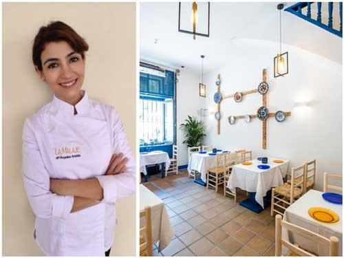 Profesionalhoreca, Mª Ángeles García, segunda jefe de cocina, y sala del restaurante La Malaje