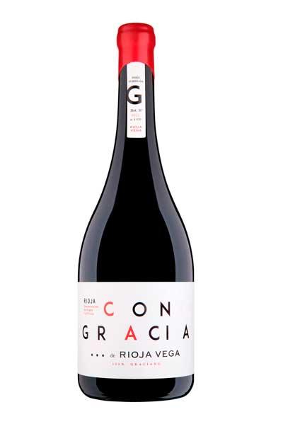 Profesionalhoreca, botella de vino  Con Gracia de Rioja Vega