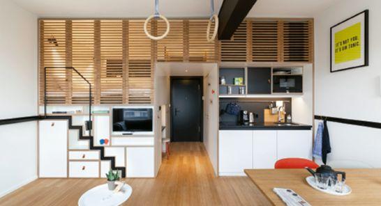 profesionalhoreca, habitación del hotel Zoku Amsterdam, un perfecto híbrido entre oficina y hotel