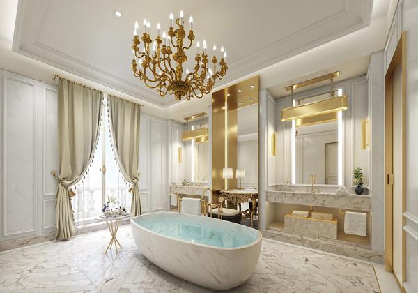 Profesionalhoreca, baño de la suite Real, hotel Mandarin Oriental Ritz