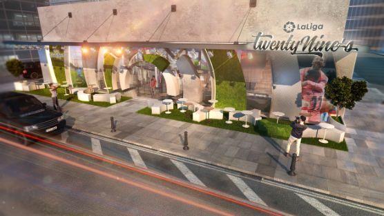 profesionalhoreca, recreación del exterior de un bar de LaLiga TwentyNines