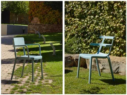 Profesionalhoreca, sillas Green Edition de Resol. Silla Lisboa con brazos, y silla Tokyo