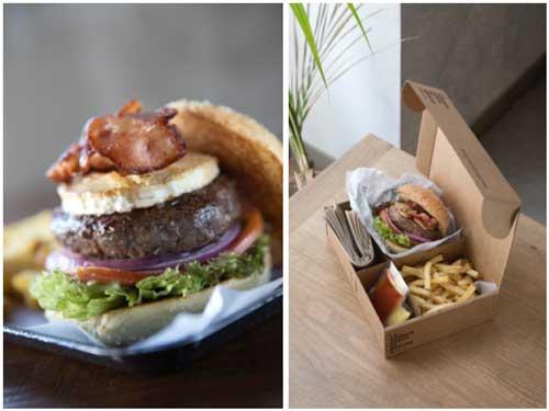 Profesionalhoreca, una de las hamburguesas gourmet de Hamburguesa Nostra, y su cuidada presentación en caja, para delivery