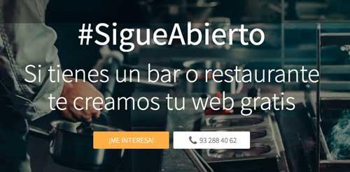 Profesionalhoreca, campaña Nominalia de webs gratis para establecimientos hosteleros