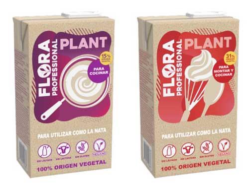 Profesionalhoreca, natas veganas Flora Plant