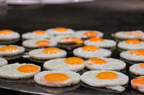 Profesionalhoreca, huevos fritos en buffet
