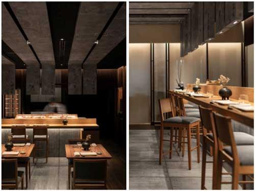Profesionalhoreca. detalles del restaurante Ta-Kumi de Marbella, proyecto del estudio Paco Lago