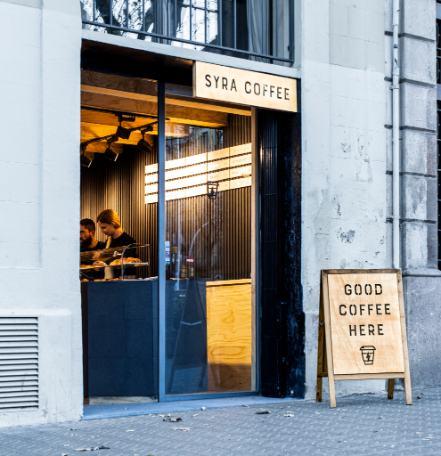 Profesionalhoreca, local de Syra Coffee