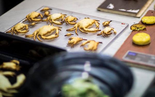 Profesionalhoreca, cangrejos impresos en 3D mediante láser de Cocuus