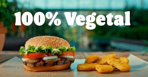 Profesionalhoreca, hamburguesa y nuggets vegetales de Burger King