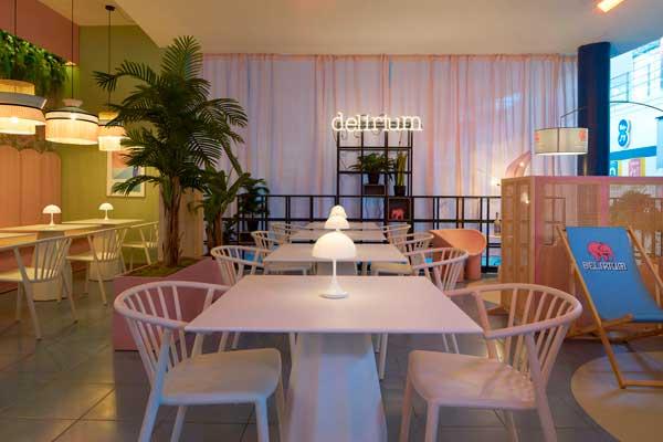 Profesionalhoreca, interior de la terraza Bierwinkel Experience de España, en el centro Heron City de Valencia