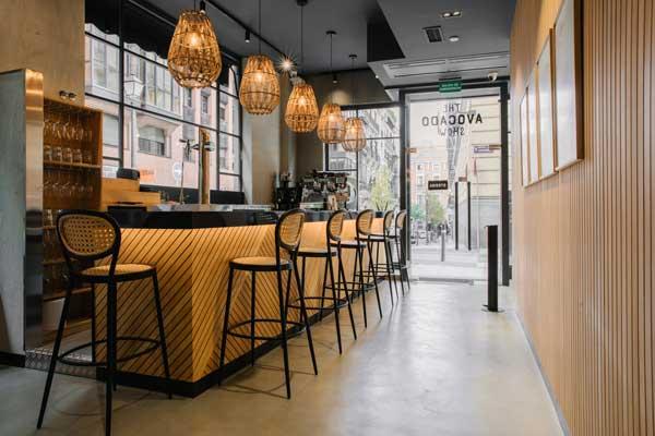 Profesionalhoreca, barra del restaurante The Avocado Show Madrid