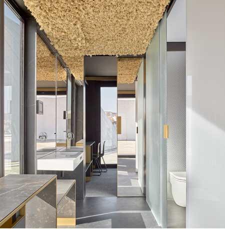 Profesionalhoreca, baño de módulo de habitación de hotel de Room 2030
