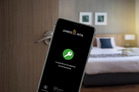 Profesionalhoreca, app James & Rita para abrir la puerta de la habitación con el móvil