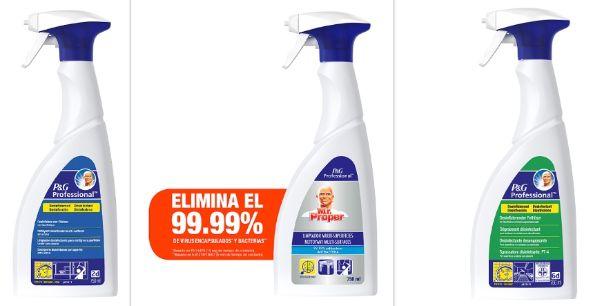 Profesionalhoreca, desinfectantes y limpiados de P&G Professional reconocidos como viricidas