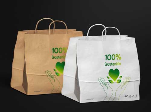 Profesionalhoreca, modelo de bolsa de papel de Eccopaper para compra colectiva