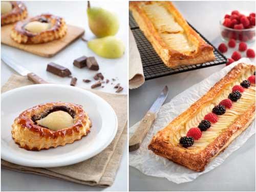 Profesionalhoreca, tartas de pera y choco y de manzana, de Vandemoortele