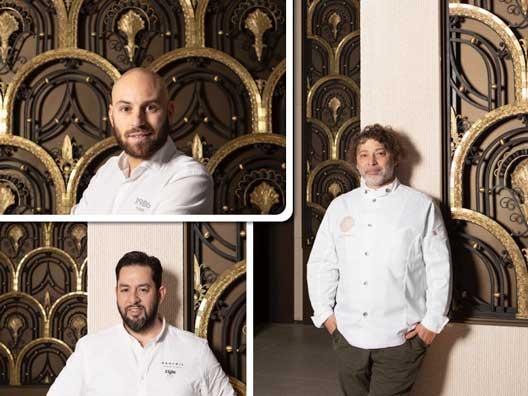 Profesionalhoreca, tres grandes chefs que van a estar en el el Food Hall de Galería Canalejas: Rubén Arnanz, Julián Mármol y Andrés Madrigal