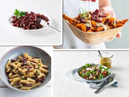 Profesionalhoreca, platos elaborados con Ardo Veggie Bacon