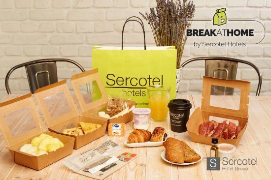 Profesionalhoreca, selección del completo desayuno buffet de Sercotel para delivery