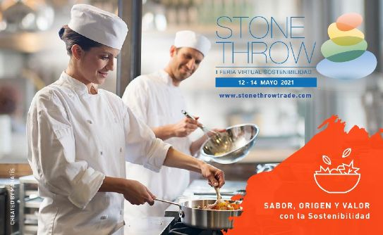 Profesionalhoreca, cartel de la I Feria Virtual de Sostenibilidad Stone Throw