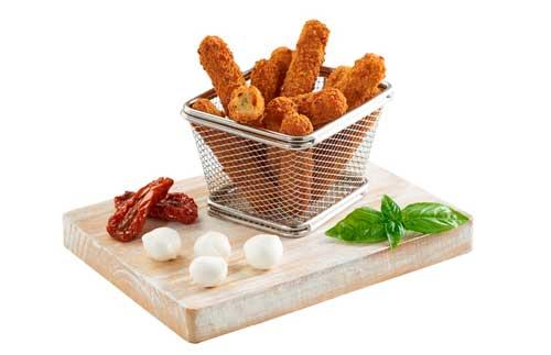 Profesionalhoreca, Fingers de mozzarella con queso y albahaca, de Maheso