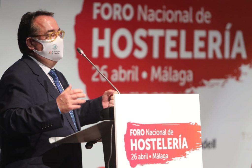 Profesionalhoreca, José Luis Yzuel, presidente de Hostelería de España, en el I Foro Nacional de Hostelería