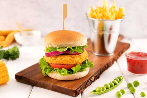 Profesionalhoreca, Burger de NeWind Foods, elaborada a partir de proteína vegetal de guisante