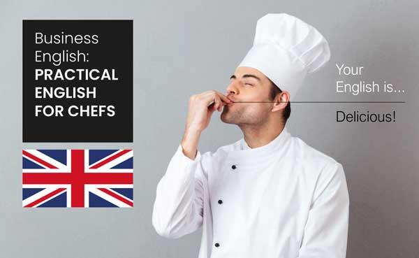 Profesionalhoreca, cartel del curso inglés para cocineros