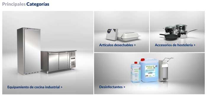 Profsionalhoreca, principales categorías del marketplace de Makro