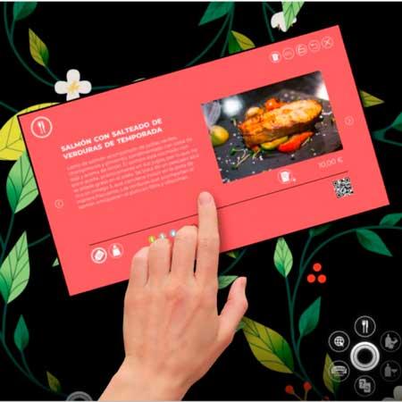 Profesionalhoreca, información de un plato en la mesa Xtable
