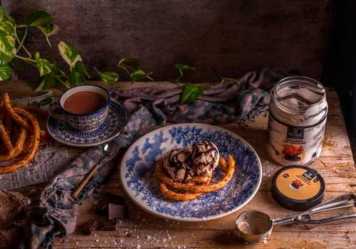 Profesionalhoreca, helado de churros con chocolate de La Ibense