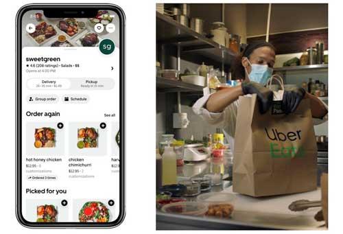 Profesionalhoreca, app y preparación de pedido de delivery de Uber Eats