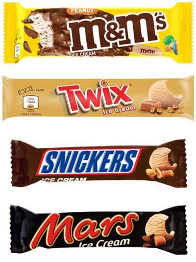 Profesionalhoreca, helados de chocolatinas Mars