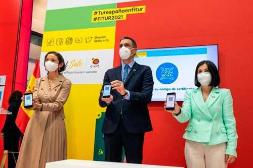 Profesionalhoreca, el presidente Pedro Sánchez presenta el Certificado Digital Covid en Fitur