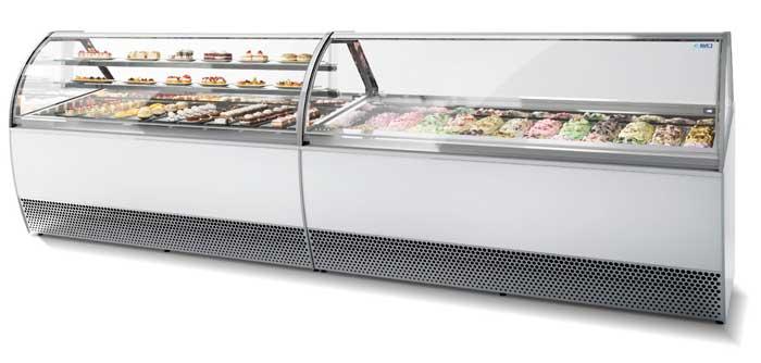 Profesionalhoreca, vitrina para heladería y pastelería New Millenium con gas R290