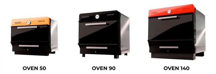 Profesionalhoreca, hornos de brasa de Pujadas en tres tamaños