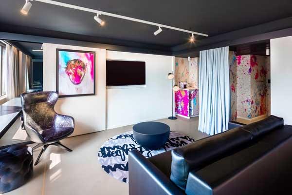 Profesionalhoreca, junior suite de la habitación del hotel Nhow Brussels Bloom