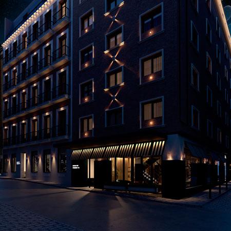 Profesionalhoreca, fachada del nuevo hostel en el centro de Madrid