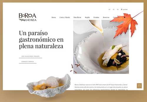 Profesionalhoreca, web del restaurante Boroa