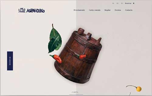 Profesionalhoreca, web del restaurante Aspaldiko