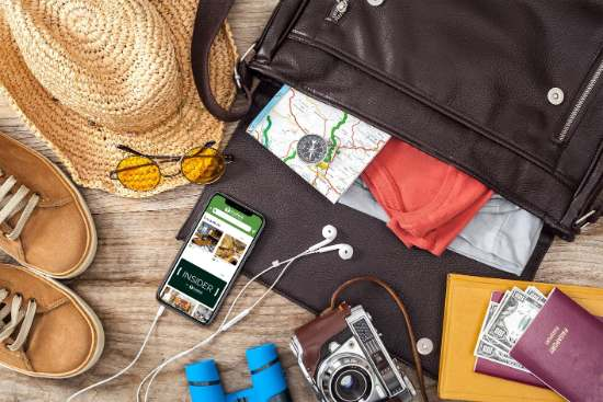 profesionalhoreca, equipaje de viaje y móvil para reservas on-line de restaurantes