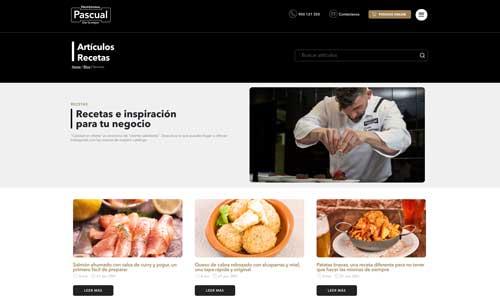 Profesionalhoreca, web de Paacual Profesional