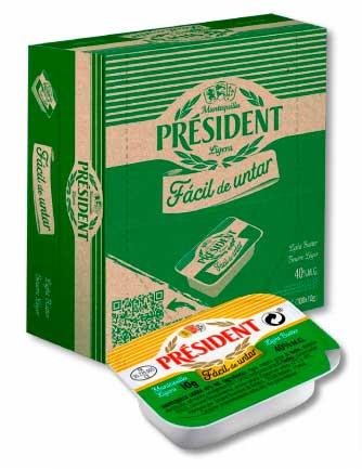 "Profesionalhoreca, micro tarrina de mantequilla ""fácil de untar"" de Président Profesional"