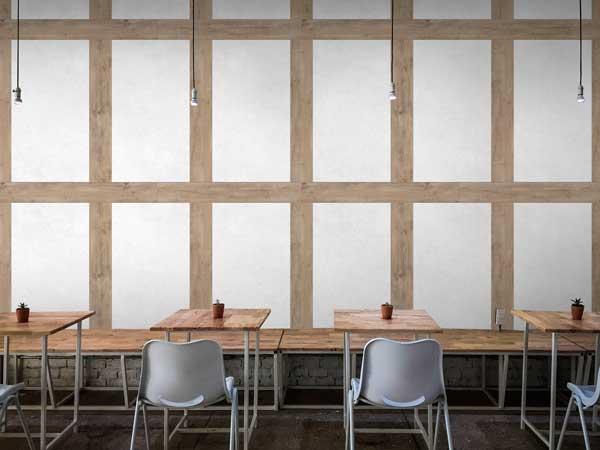 Profesionalhoreca, revestimiento GX Wall+ de Grosfillex en un restaurante